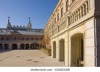 LUBLIN, POLAND - October 15, 2018: Courtyard of Lublin Royal Castle in Lublin
