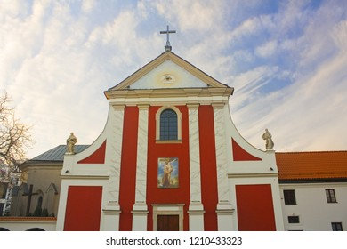 LUBLIN, POLAND - October 15, 2018: Ancient Capuchin Church of St. Peter and St. Paul of Capuchin monastery in Lublin