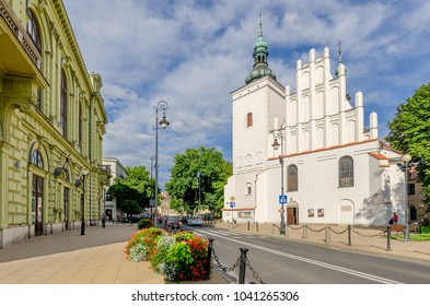 LUBLIN, LUBLIN PROVINCE/POLAND - JULY 8, 2017: Church of Our Lady of Victory , 15th century.