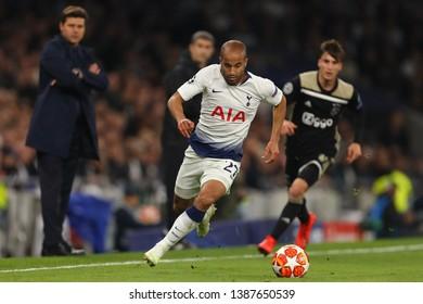 Lucas Moura of Tottenham Hotspur - Tottenham Hotspur v Ajax, UEFA Champions League Semi Final - 1st Leg, Tottenham Hotspur Stadium, London - 30th April 2019