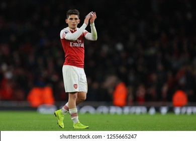 Lucas Torreira of Arsenal - Arsenal v Huddersfield Town, Premier League, Emirates Stadium, London (Holloway) - 8th December 2018