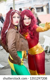 Lucca / Italy - 11 02 2018 Lucca Comics : international free cosplay event for people and cosplayers