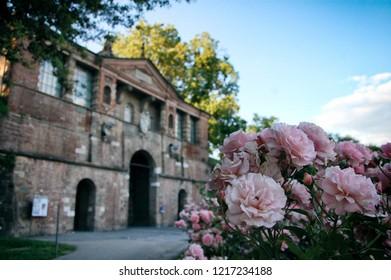 Lucca, Italy, june 30 2018: Porta San Pietro in Lucca
