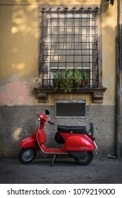 Lucca, Italy - Oct 2016: Vespa Scooter