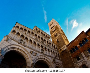 Lucca, Italy – October 29, 2016: San Martino, the Cathedral of Lucca: The Duomo in Lucca is a Roman Catholic cathedral dedicated to Saint Martin of Tours