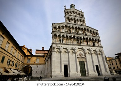 Lucca, Italy-October 6, 2016: San Michele in Foro, Lucca.