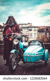 Lucca/Italy - November 2018 : Cosplayer at Lucca Comics free event hagrid