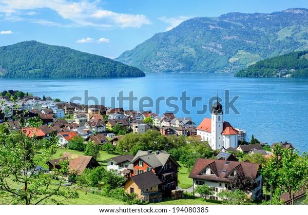Lucerne Lake by Ruetli, Switzerland