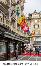 LUCERNE, SWITZERLAND - SEP 16, 2014: The Bucherer has a rich tradition within Europe's watch and jewellery sector. Carl-Friedrich Bucherer opened first watch and jewellery outlet in Lucerne in 1888.