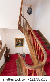 Lucerne/Switzerland - August 29 2015: Inner staricases at Richard Wagner museum. The house is in the Tribschen district of Lucerne, Switzerland, where Richard Wagner lived from 1866 to 1872.