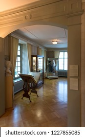 Lucerne/Switzerland - August 29 2015: Interior at Richard Wagner museum. The house is in the Tribschen district of Lucerne, Switzerland, where Richard Wagner lived from 1866 to 1872.