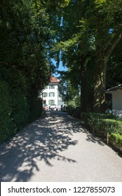 Lucerne/Switzerland - August 29 2015: Richard Wagner museum. The house is in the Tribschen district of Lucerne, Switzerland, where Richard Wagner lived from 1866 to 1872.
