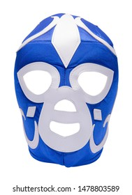 Lucha Libre Mask Cut Out on White.