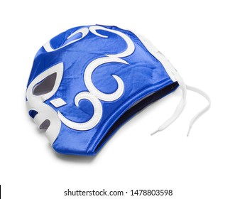 Lucha Libre Mask Isolated on White Background.