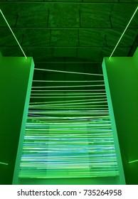 Lucio Fontana - Ambienti / Environments exhibition at Pirelli Hangar Bicocca. Milan, October 2017