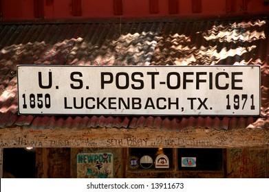 Luckenbach, Texas Post Office Sign