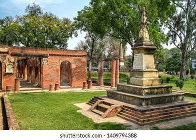 Lucknow ,19,March, 2016 : Stone Memorial built for gallantry of Colonel Robert Hope Aitken -1857  located in  Residency Complex,  Lucknow, Uttar Pradesh, India.Asia