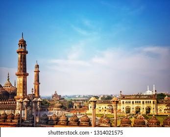Lucknow city skyline view. Lucknow tourism