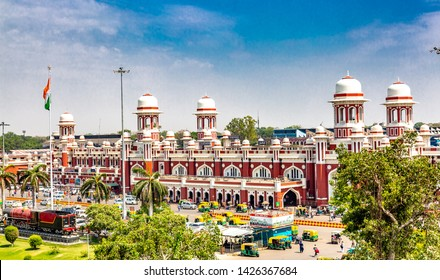 LUCKNOW, INDIA - May 07 2019: Lucknow railway station. Charbagh railway station, Uttarpradesh