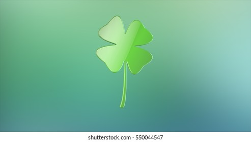 Lucky Clover Color 3d Icon