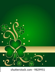 Lucky green shamrocks