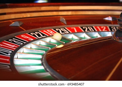 Lucky number 18 at casino roulette