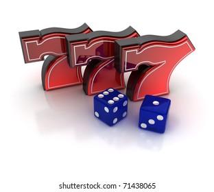 Lucky seven slot images stock photos vectors shutterstock - Lucky number 7 wallpaper ...