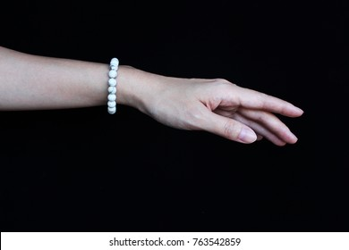Lucky stone bracelet, hand