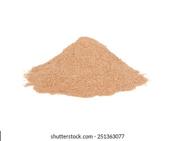 lucuma powder isolated on white background