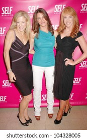 Lucy Danziger with Jillian Michaels and Kathy Griffin  at the Self Magazine July 2009 L.A. Issue Party. Sunset Towers, West Hollywood, CA. 06-18-09