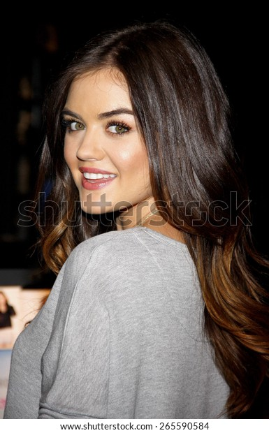 Lucy Hale appears at The Hollister store at the Westfield mall to launch her first collection held at the Hollister in Los Angeles on August 9, 2014 in Los Angeles, California.