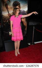"Lucy Lawless at the ""Spartacus: War Of The Damned"" Los Angeles Premiere, Regal Cinemas, Los Angeles, CA 01-22-13"