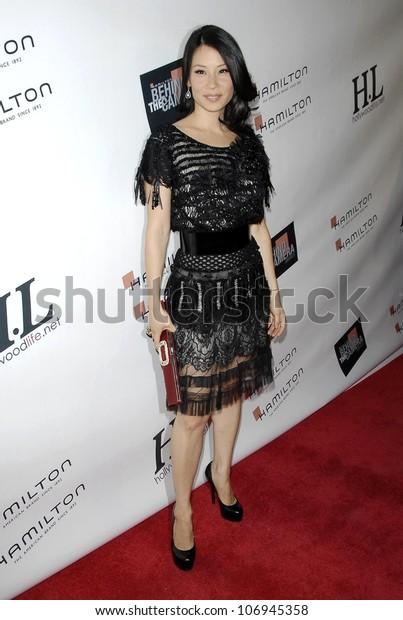 Lucy Liu Hamilton Hollywood Lifes Behind Stock Photo (Edit