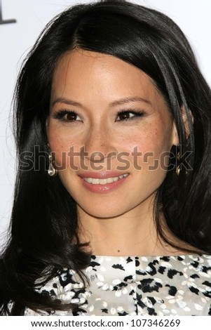 Lucy Liu  at a party to introduce the Trump Tower Dubai. The Tar Estate, Bel Air, CA. 08-23-08