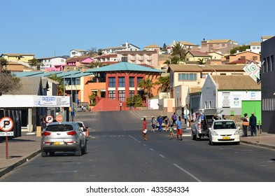LUDERITZ, NAMIBIA - JAN 26, 2016: Street scene in Luderitz, Luderitz is a harbour town in southwest Namibia, lying on one of the least hospitable coasts in Africa