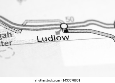 Ludlow. California. USA on a map