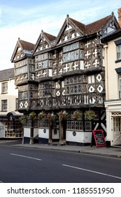 LUDLOW, ENGLAND - September 19, 2015: The historic Feathers Hotel, completed in 1619 and described by the New York Times as the world's most handsome inn.