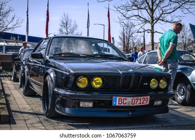 Ludwigsburg, Germany - April 8, 2018: BMW M635 CSi M6 oldtimer car at the 2018 Retro Season Opener meeting and show.