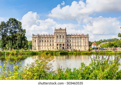 Ludwigslust Palace in Baroque architecture style in the town of Ludwigslust, Mecklenburg-West Pomerania