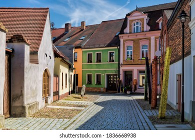 Luebbenau, Germany - 23.05.2019 - picturesque alley in the old town
