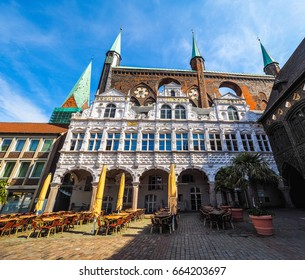 Luebeck Rathaus (city hall) in Luebeck, Germany, hdr