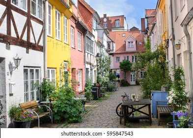 Luebeck, view of the backyard area