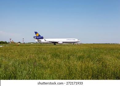 Lufthansa Cargo Mcdonnell Douglas D-ALO on the ground, Kazakhstan, Almaty International Airport, June, 05, 2011.