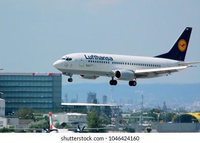 Lufthansa, Wuppertal, Boeing 737-300, 29.6.2008, VIE, Vienna Airport Schwechat, Austria, Europe
