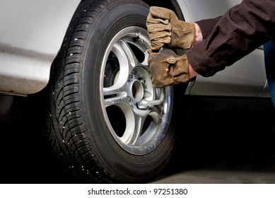Lug Nuts are removed so that a tire can be replaced
