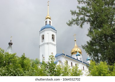 Luga, Russia -03 July 2014: Cheremenetsky John the Theologian Monastery ancient