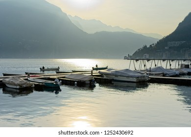 Lugano Lake, Switzerland. Views and panoramas