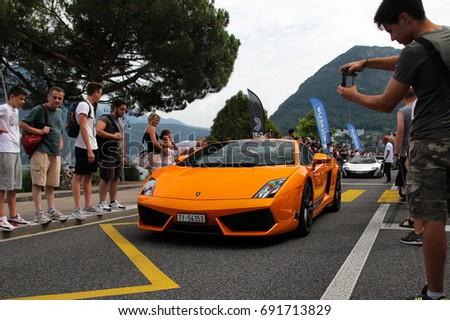 Lugano Switzerland 050717 Lamborghini Gallardo Superleggera Stock