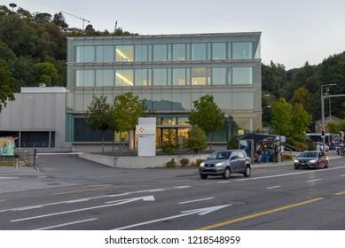 Lugano, Switzerland - 21 September 2017: Swiss National Supercomputing Centre at Lugano on Switzerland