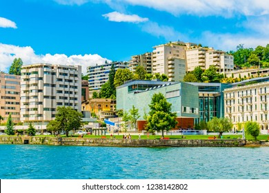LUGANO, SWITZERLAND, JULY 25, 2017: LAC Lugano Arte e Cultura, a cultural center in Swiss city Lugano